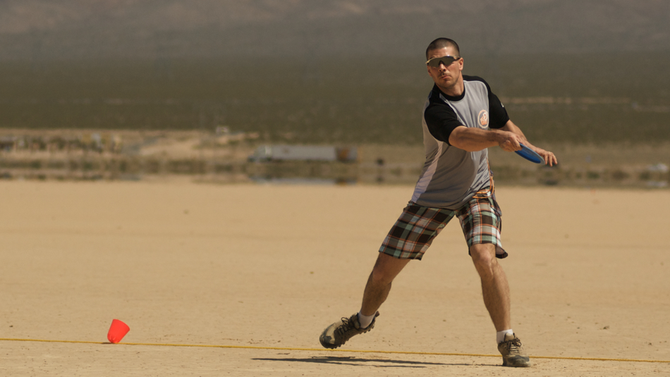Christian Sandström (Sweden) throwing distance at Big D in the Desert, California, 2008. 2 of 4.