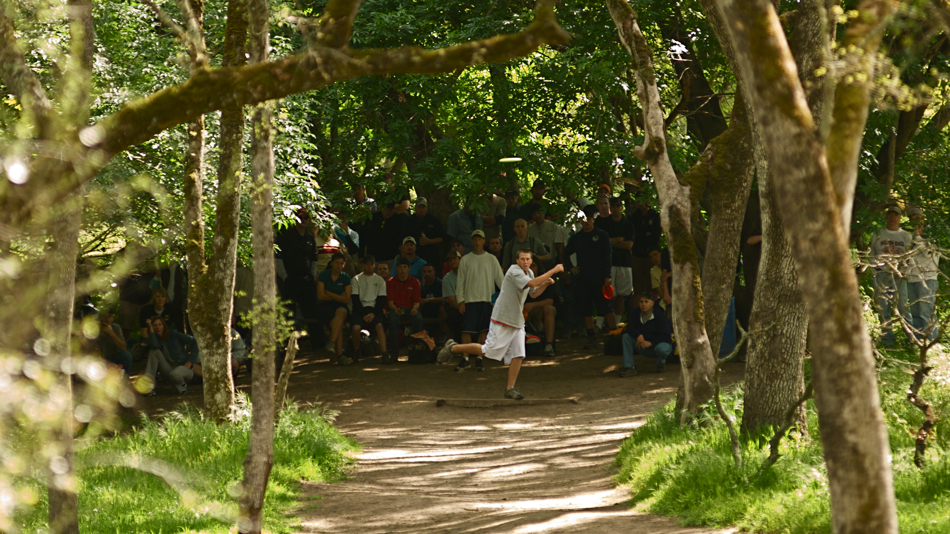 Derek Billings at the PDGA Super Tour in Orangevale, California, 2008