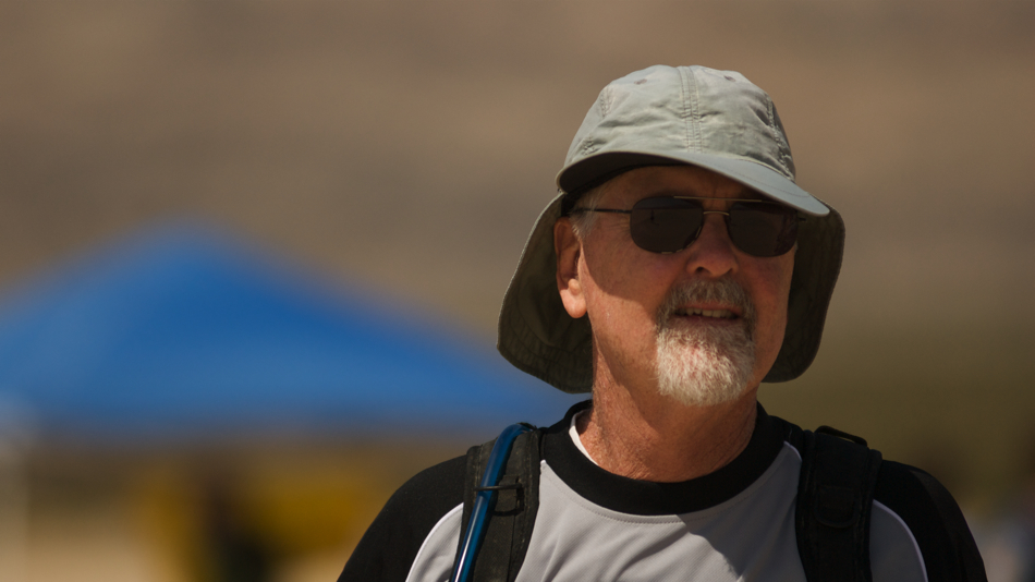 One of the inventors of the modern golf disc, Dave Dunipace from Innova. Big D in the Desert 2008
