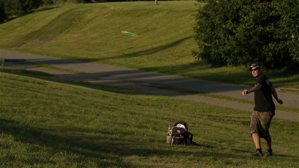Kenneth Rasmussen (Denmark) playing evening golf at Bundgaardsparken, Aalborg