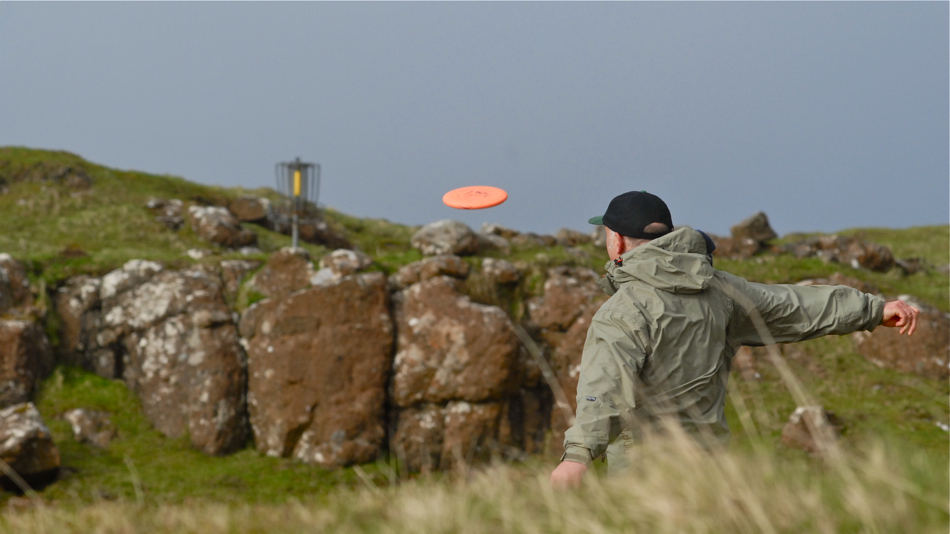 Will he ace? Derek Robins, Isle of Mull 2009. 2/9.