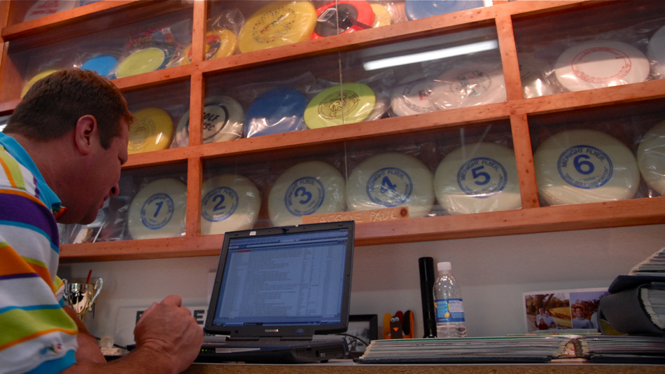 Marvin's collection in completely organized and he can find any of his 8.000+ discs in minutes.