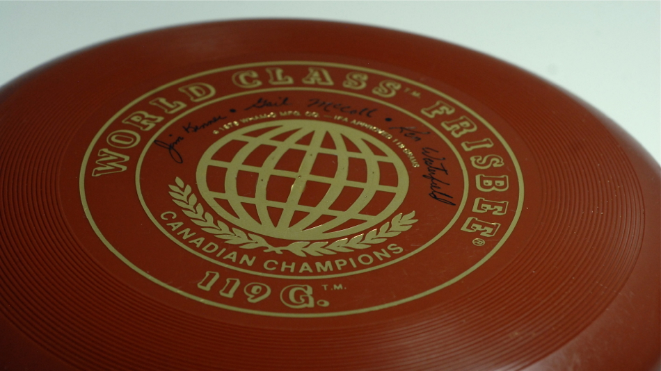 World Class Frisbee 119G. Canadian Champions edition: Jim Kenner, Gail McColl, Ken Westerfield. A classic!