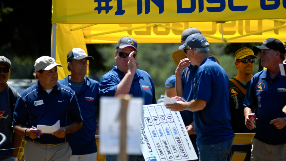 Officials preparing for the 2011 PDGA Pro Worlds finals.
