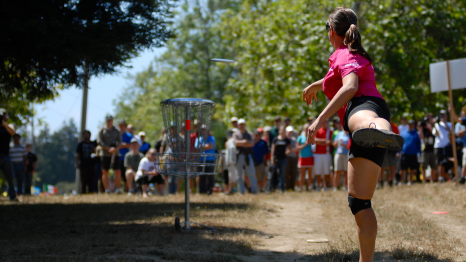 Valarie Jenkins (USA) hits a long putt during the finals of the 2011 Pro Worlds. She took second after Paige Pierce.