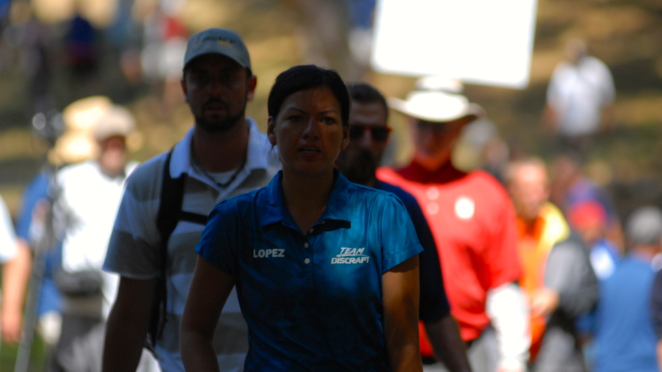Liz Lopez in focus during the 2011 Pro Worlds finals.