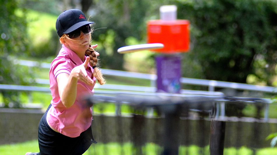 Norway's Sigrid Ballo Sandum putting during the European Championships in Colchester, England, 2012.
